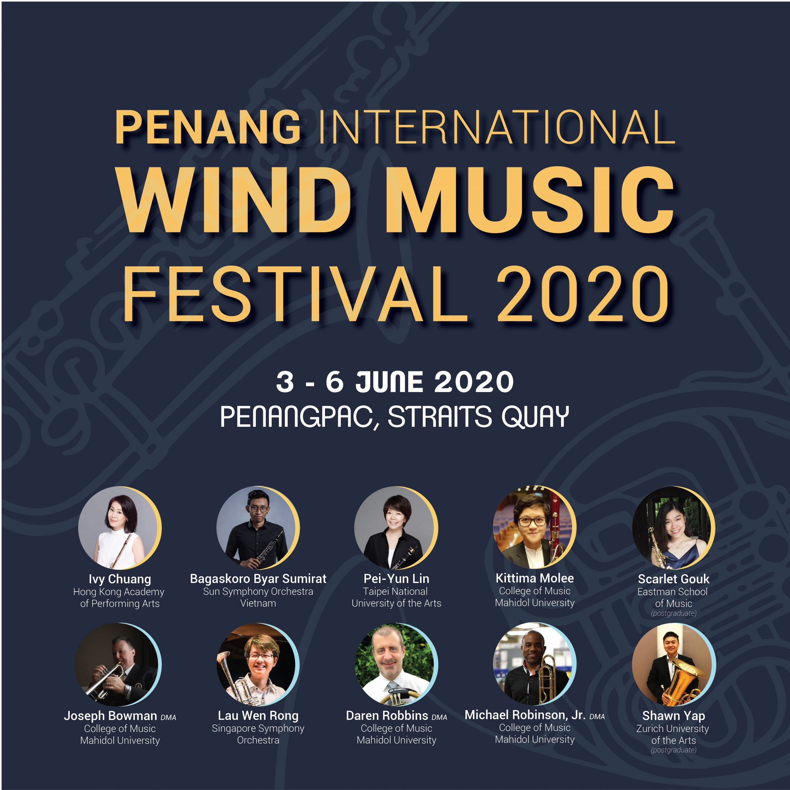Announcing the Penang International Wind Music Festival 2020
