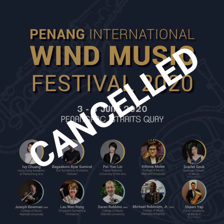 Cancellation of the Penang International Wind Music Festival 2020