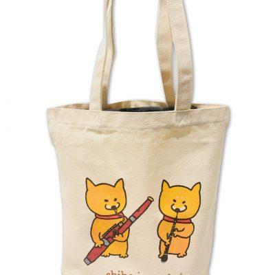Shiba Inu Raku Tote Bag (Double Reeds)