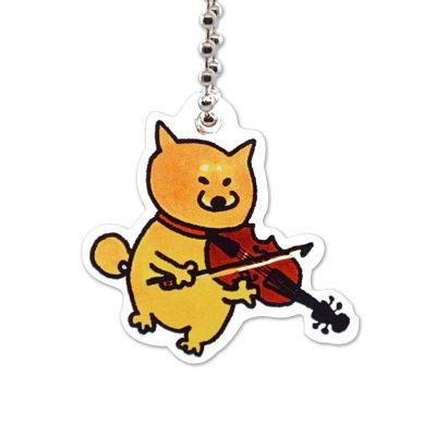Shiba Inu Raku Keychain (Violin)