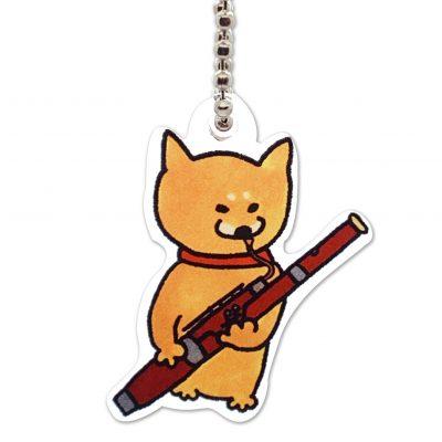 Shiba Inu Raku Keychain (Bassoon)