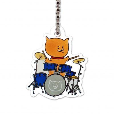 Shiba Inu Raku Keychain (Drumset)