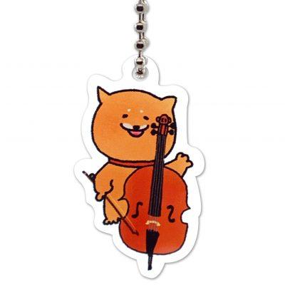 Shiba Inu Raku Keychain (Cello)