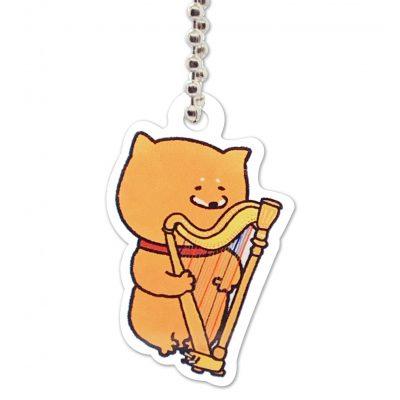 Shiba Inu Raku Keychain (Harp)