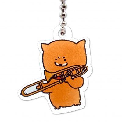 Shiba Inu Raku Keychain (Trombone)