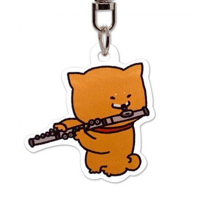 Shiba Inu Raku Keychain (Flute)