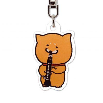 Shiba Inu Raku Keychain (Clarinet)