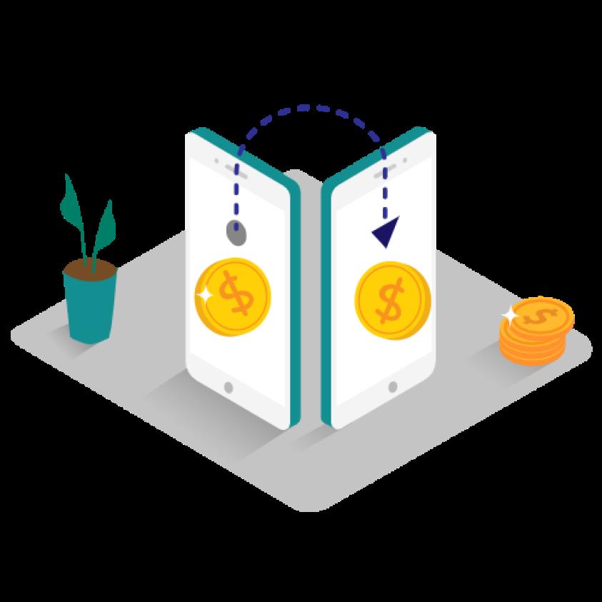 Money transfer _Isometric 1