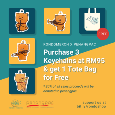 Bundle of 3 Keychains with free Tote Bag